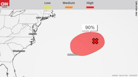 Invest 90L has a high chance of tropical cyclone development, according to the National Hurricane Center