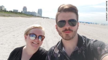 Kris Nealon and her husband John Mattie.
