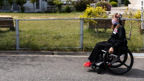 Bessho leaves practice in Hyogo, Japan. She is vying to participate in her fifth Summer Paralympic Games.