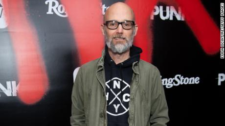 """Moby arrives at the premiere of Epix's """"Punk"""" at SIR in Los Angeles, March 4, 2019."""