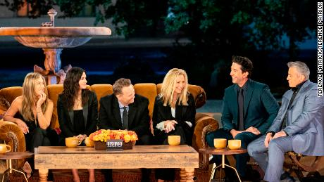 The cast assembles in a familiar spot for 'Friends: The Reunion' (Terence Patrick).