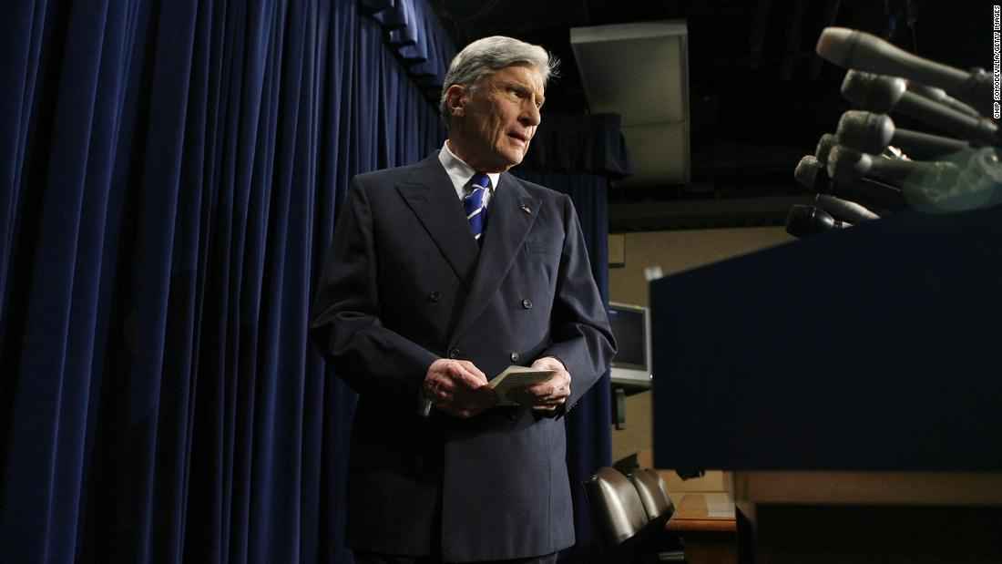 """<a href=""""https://www.cnn.com/2021/05/26/politics/virginia-senator-john-warner-dies/index.html"""" target=""""_blank"""">John Warner,</a> who represented Virginia in the US Senate for three decades and was widely respected for his views on military affairs, died May 25 at the age of 94."""