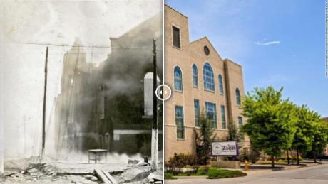 Then and now: Areas destroyed in the Tulsa race massacre