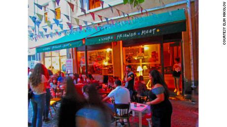 """Nikolov's cafe in Plovdiv attracts """"Friends"""" fans from across central and Eastern Europe."""