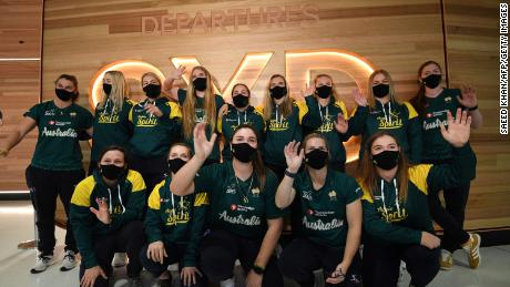 The Aussie Spirit players are among the first athletes to leave for the Tokyo Olympics.