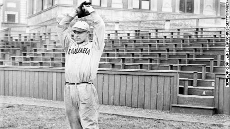 A young Lou Gehrig got his baseball start at Columbia University in New York, where he was spotted by a Yankees scout.