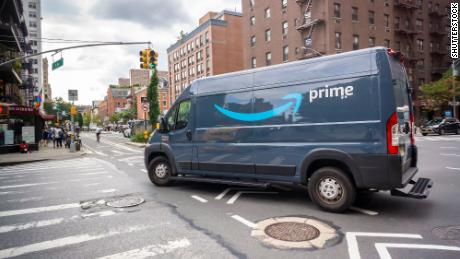 An Amazon delivery van in New York in October 2019.