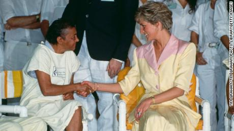 Princess Diana visited patients with AIDS at a hospital in Rio de Janeiro on April 25, 1991. Her advocacy and compassion for people with HIV/AIDS helped destigmatize the disease and change public perception.