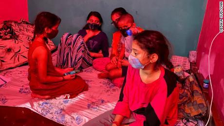 Devika's siblings at their New Delhi home on June 2, 2021.