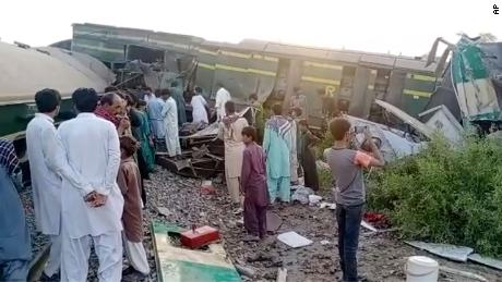 Two trains collide in southern Pakistan; 30 killed, several injured