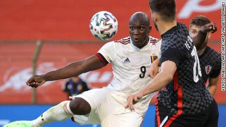 Lukaku scores in Belgium's 1-0 victory over Croatia last Sunday.