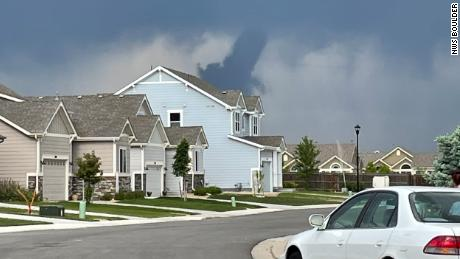 A National Weather Service employee snapped this photo of the tornado.