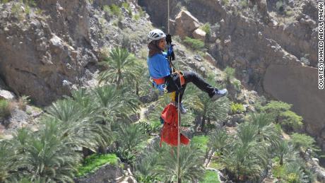 The endurance athlete says she takes advantage of Oman's arid desert terrain. She recently visited Jabal Akhdar, part of the Al Hajar mountain range in Oman.