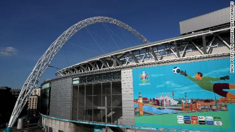 Wembley Stadium ahead of Euro 2020.