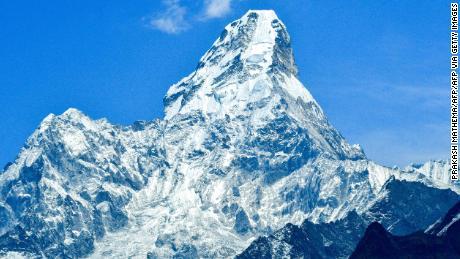 Mount Ama Dablam, which peaks at 6,812 meters (22,349 feet), in the Everest region.