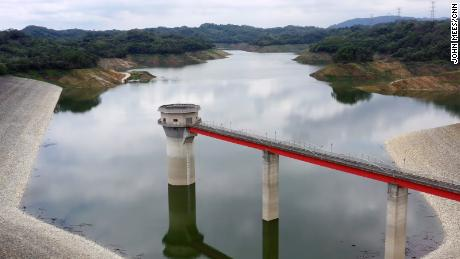 The Second Baoshan Reservoir in northern Taiwan, which supplies water to TSMC and other chips manufacturers at Hsinchu Science Park, only has about 30% of its normal water storage even after the monsoon season began in May.