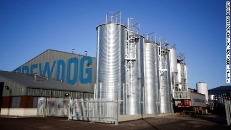 The Brewdog Plc brewery and headquarters near Aberdeen, Scotland.