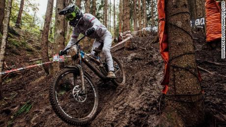 Wilson performing at UCI DH World Championships in Leogang on October 11, 2020.
