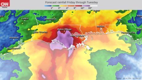 В эти выходные мы могли увидеть больше проливных дождей над побережьем Мексиканского залива.