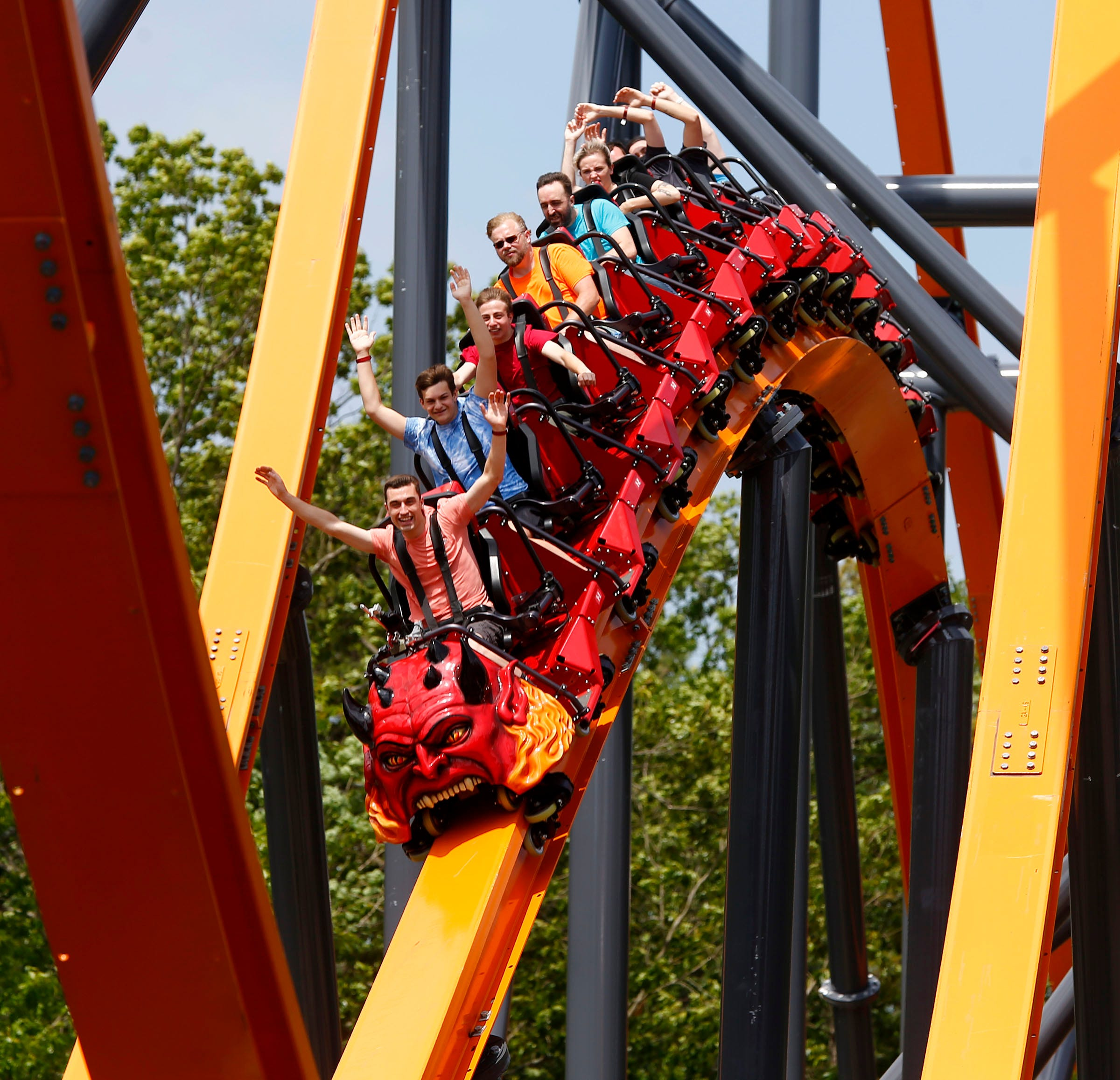 Jersey Devil World S Tallest Single Rail Roller Coaster Opens Cnn Travel