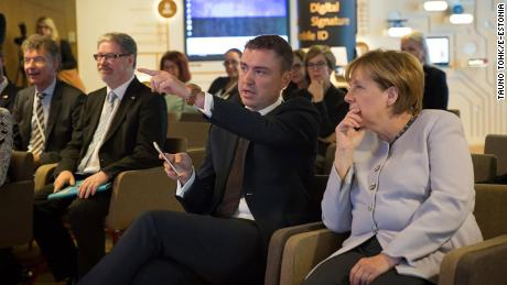 German Chancellor Angela Merkel became Estonian e-resident during her visit to Tallinn in 2016.
