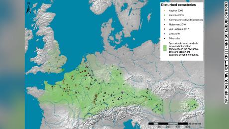 The research pooled data from five archaeologists working in different parts of Europe.