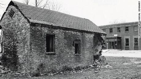 This servant quarters remained on the Virginia Theological Seminary campus into the 20th century. The building was dismantled in the 1970s and its bricks repurposed for a garage.
