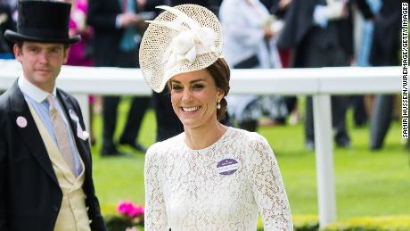 Catherine, Duchess of Cambridge arrives for day two of Royal Ascot.