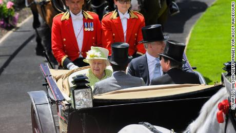 The Queen at Royal Ascot with son Prince Andrew in 2019