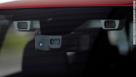 Subaru's EyeSight system relies on two forward-facing cameras.