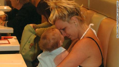 Britney Spears with her son, Sean Preston, in 2006