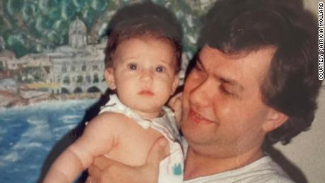 Angelo Capurro with his daughter Maria Eleonora in Buenos Aires, Argentina 1987.