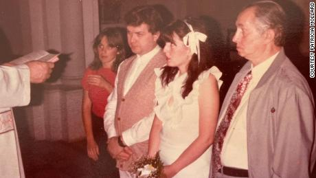 After getting married in Italy, Angelo Capurro and Patricia Mollard held a religious wedding ceremony in Mollard's hometown of Buenos Aires, Argentina, in 1985.
