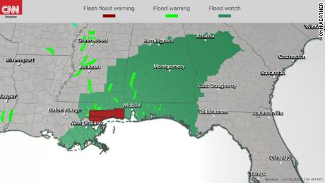 Tropical depression Claudette continues with heavy rain in southeast region, NHC says