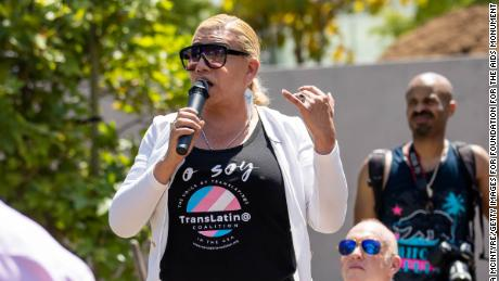 Activist Bamby Salcedo is seen at the AIDS Monument Groundbreaking earlier this month in West Hollywood, California.