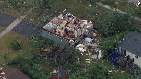 Tornado sweeps through suburban Chicago, causing injuries and damage