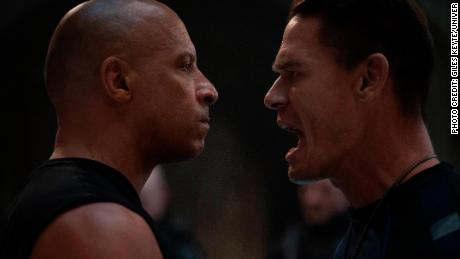 Vin Diesel and John Cena square off in 'F9: The Fast Saga (Giles Keyte/Universal).