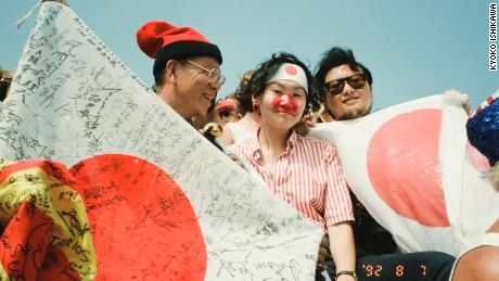 """Kyoko Ishikawa (center) went to her first Summer Games in Barcelona in 1992 and crossed paths with Japan's """"Uncle Olympics."""""""