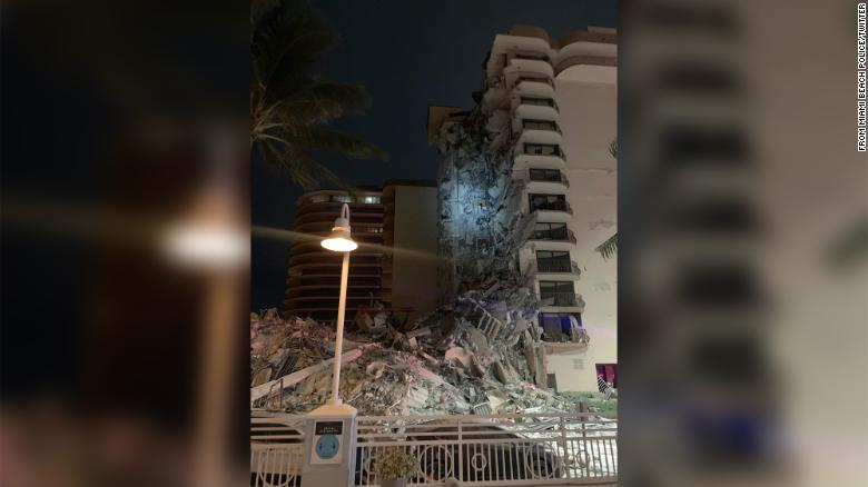 Building partially collapses near Miami Beach, authorities say