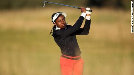 Оба наносят второй удар на 18-й лунке во втором раунде Aberdeen Standard Investments Ladies Scottish Open.
