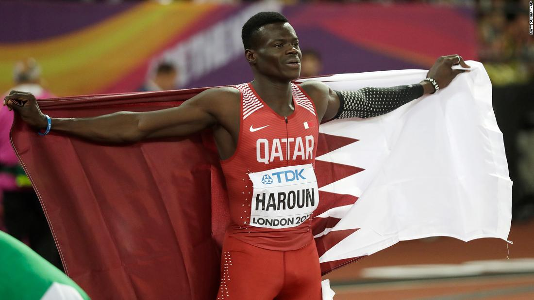 """Qatari sprinter <a href=""""https://www.cnn.com/2021/06/26/sport/abdalelah-haroun-qatar-sprinter-death-spt-intl/index.html"""" target=""""_blank"""">Abdalelah Haroun,</a> who won bronze in the 400 meters at the 2017 World Championships, died June 26 at the age of 24. The Qatar Olympic Committee, which announced Haroun's death on social media, did not say how he died."""