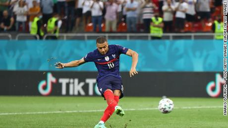 Nine penalties had beeen scored in the shootout ... then Mbappe stepped up ...