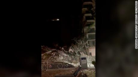 Video shows fallen debris and gushing water in the Surfside condo garage moments before collapse