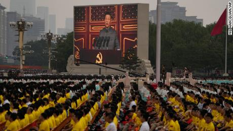 Foreign countries that 'bully' China will meet a 'great wall of steel,' says Xi during Communist Party centenary