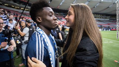 In December 2020, Davies and his girlfriend, Paris Saint-Germain forward Jordyn Huitema, revealed they had received racist abuse on social media.