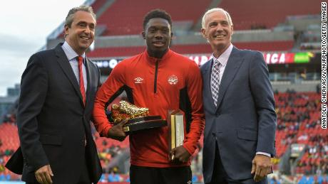 Davies won the Golden Boot as the top scorer at the 2017 CONCACAF Gold Cup and the Young Player Award as the tournament's most promising player.