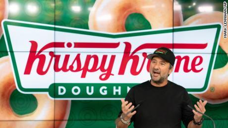 Krispy Kreme CEO Mike Tattersfield at the Nasdaq on Thursday.