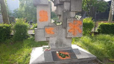 Jewish cemeteries, like this one in Berlin, are often desecrated, including with Nazi symbols.
