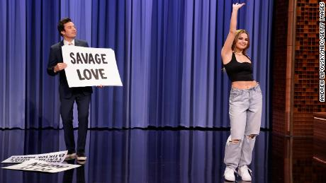 """TikTok personality Addison Rae appeared on """"The Tonight Show with Jimmy Fallon,"""" performing a number of dances that grew popular on the app."""