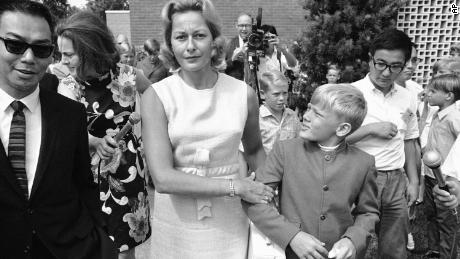 The press followed wherever they went, but Andy Aldrin said he enjoyed all the attention as an 11-year-old boy -- tossing the football with them outside the house, sneaking their snacks, hamming it up for the cameras, and on this day in July 1969, getting dragged away by his mother, Joan, during an unauthorized appearance.